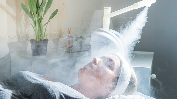 Woman Receiving Aroma Therapy