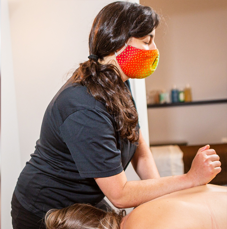 Woman massaging